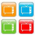 TV button set vector image