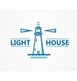 Lighthouse logo or symbol icon vector image