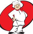 cook man cartoon vector image vector image
