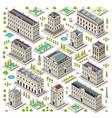 City Map Set 06 Tiles Isometric vector image