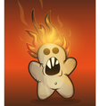 Burned cookie rebellion vector image vector image