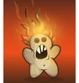 Burned cookie rebellion vector image