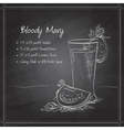 Bloody Mary on black board vector image