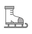 grey ice skate cartoon vector image