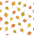 Oak leaves seamless pattern Autumn background vector image