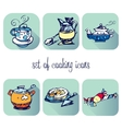 set of cooking icons vector image