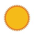 sun sunny star isolated icon vector image