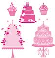 wedding and birthday cakes vector image