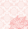 pink vintage damask background vector image vector image