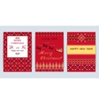 Knitted Sweater Greeting card vector image