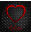 Valentine meatllic diamond heart and text vector image