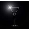 Martini glass cocktail vector image vector image