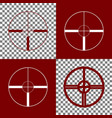 sight sign   bordo and white vector image