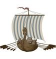 Battle Viking Ship vector image vector image