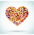 Rainbow Button Background Heart vector image