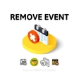 Remove event icon in different style vector image