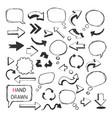 Hand Drawn arrowsspeech bubbles vector image