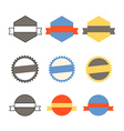 Retro banners template collection vector image vector image