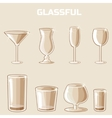 shaped wineglass game element vector image