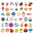 biggest collection of logos food vector image