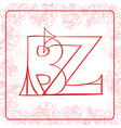 BZ monogram vector image