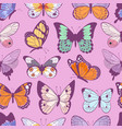 colorful different summer butterfly wings seamless vector image