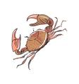 doodle crab vector image