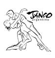 Hand made sketch of tango dancers vector image