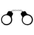 handcuff the black color icon vector image