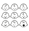 Smiley faces Baby boy Set vector image