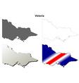 Victoria blank detailed outline map set vector image