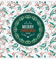 vintage christmas greeting card typographic retro vector image