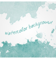 Watercolor background design hand drawn vector image