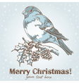 Christmas hand drawn ink card vector image vector image