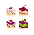 Collection of various cakes vector image