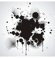 Black blot isolated on white vector image vector image