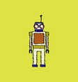 flat shading style icon childrens toy robot vector image