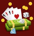 Casino design vector image