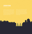 City Silhouette with River vector image