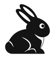 Easter bunny icon simple style vector image