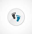 footprints icon 2 colored vector image