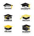 graphic black and white square academic vector image