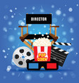 movie background with icon vector image