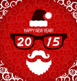 New year hipster greeting card with Santa vector image