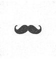 Retro hannd drawn mustache icon Symbol of vector image