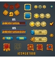 Set of different elements and symbols for web vector image