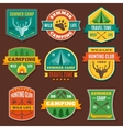 Summer Camping Colorful Emblems vector image