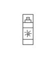 Sun cream icon outline vector image