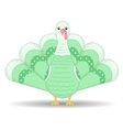 green turkey vector image vector image