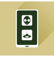 Flat web icon with long shadow mobile viruses vector image